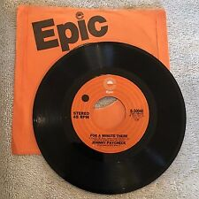 Johnny Paycheck 45rpm Vintage Vinyl Record 1972 NICE!