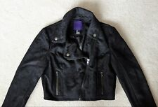 Forever 21 black lace cropped moto jacket (Juniors M / Womens XS)