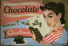 Plaque murale émaillée en métal style Retro Vintage / déco Bar Mur café chocolat