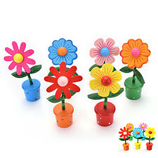 Madera oscilante flor colorido pulgar barril bailando coche Home Table Decor VP
