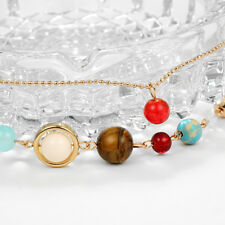 Jewelry Women Beaded Anklet Solar System Trendy New Trinket Ankle Bracelet Qk