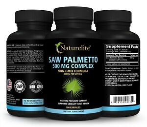 Saw Palmetto 500 mg, PROSTATE AND URINARY FLOW SUPPORT HAIR GROWTH  100 Capsuls