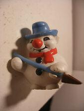 Vintage PVC RODA VOINSON BOULI Le BONHOMME de NEIGE Snowman pelle