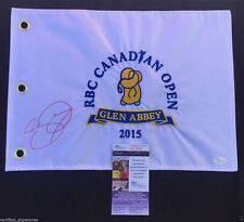JASON DAY SIGNED 2015 RBC CANADIAN OPEN FLAG 2019 AUGUSTA MASTERS JSA PROOF K98