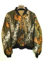 Browning XL Brown Green Real Tree Camo Coat Reversible Zip Jacket Camouflage XL