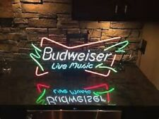 "New Budweiser Live ï¼­usic Beer Bar Neon Light Sign 24""x20"""
