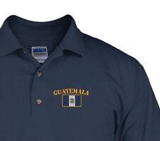 GUATEMALA FLAG Embroidery Embroidered Golf Polo Shirt