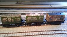hornby vans wagons job lot all weathered ×3