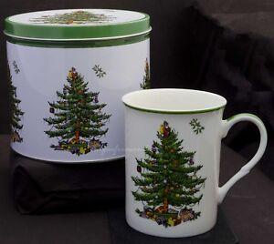SPODE CHRISTMAS TREE MUG IN A TIN GIFT SET