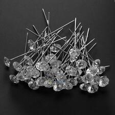 50Pcs 8x53mm Rhinestone Pins DIY Sewing Dressmaking Fixing Needle Making Tools