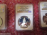 Russia Silver 2 Rubles 2002 Zodiac Virgo NGC PCGS PF 68 Ultra Cameo Silver Coin