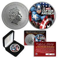 2019 1oz Pure Silver BU Tuvalu Marvel CAPTAIN AMERICA Avengers Coin Ltd # of 219
