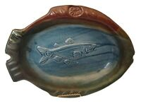 Studio Art Pottery Hand crafted Fish Serving Platter Pike Place Signed