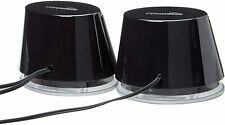 USB-Powered PC Computer Speakers with Dynamic Sound   Black