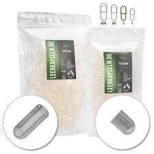 Leerkapseln vegetarisch 1000 Stk. | Gr 0 | vegan HPMC | getrennte Kapselhälften