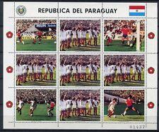 PARAGUAY 1986 Fußball WM Soccer Mexico 3998 Kleinbogen ** MNH