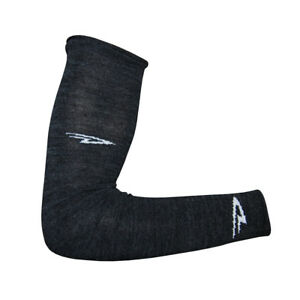 DeFeet Armskin Wool D-Logo Charcoal Cycling/Running/Hiking Arm Warmers,ARMWC,XL
