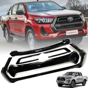 Front Cover Grille Set Gloss Black For Toyota Hilux Revo Pickup UTE 2020-2021