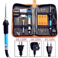 60W 110/220V Electric Soldering Iron Kit Adjustable Temperature Welding US EU UK