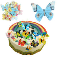 42Pcs/Pack Birthday Butterfly Edible Glutinous Wafer Rice Paper Cakes Toppers