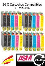 20 tinta COMPATIBLE NON-OEM para usar en Epson SX100 SX105 SX200 SX205 SX400