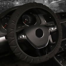 Black Steering Wheel Cover Protective Comfortable Anti-skid Universal New