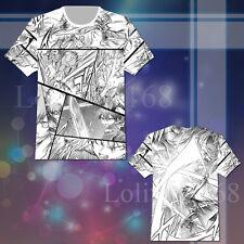 Sword Art Online Kirito Comic T-shirt Tee Top Cosplay Costume Short Sleeve Summe
