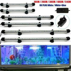 Fish Tank Cabinet Aquarium Marine Blue Submersible LED Light 37 CM