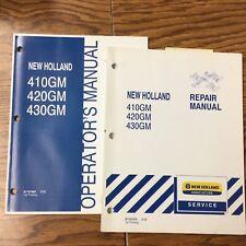 New Holland 410gm 420 430gm Finish Mower Operator Guide Amp Repair Service Manual