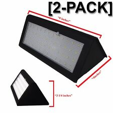 2pc 800 Lumen Outdoor Solar Wall Light, Motion Sensor, Waterproof, Garden, Patio