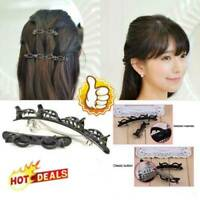 2 Pcs/Set Double Bangs Hairstyle Hairpin Hair Accessories Black
