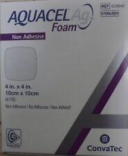 AQUACEL Ag Foam Non-Adhesive Dressing 4'' x 4'' Ref# 420642 - Exp: 09/2019