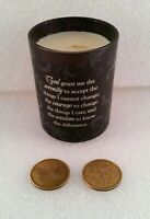3x Serenity Prayer Wax Candle & 2 Challenge Coin Tokens, AA Alcoholics Anonymous