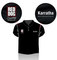 Red Dog KARRATHA Polo Shirt - size LARGE