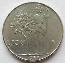 1958 Italy 100 Lire Coin  KM#96.1  SB5423