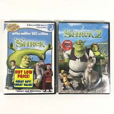 Dreamworks Shrek & Shrek 2 Dvd Lot
