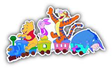 Winnie The Pooh Company Train Cartoon Car Bumper Sticker Decal 5'' x 3'''