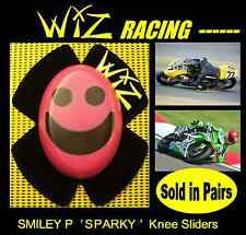 SPARKY WIZ KNEE SLIDERS SMILEY FACE BLACK PINK