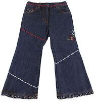 JACADI Girl's Racine Denim W/ Floral Flaired Jeans SZ 4 Years NWT $56