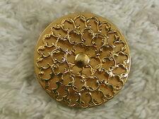 Round Filigree Goldtone Dress /  Scarf Clip (C37)