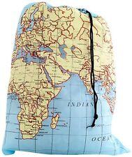 kikkerland TRAVEL WORLD MAP Washable Laundry Bag 100% Polyester LB06MP