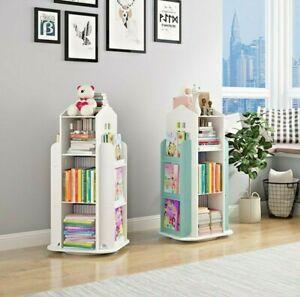 Rotating Book Storage Bookshelf Bookcase Rotating Display Stand Book Organizer