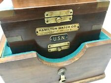 hamilton marine chronometer model 21 or 22 brass name tag