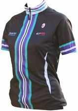 Women's Short Sleeve Cycling Jerseys with Full Zipper