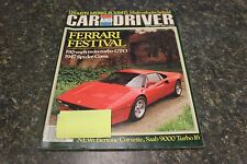 CAR AND DRIVER FERRARI FESTIVAL SEPTEMBER 1984 VOL.30 #3 9248-1 [BOX G] #968