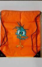 Sac de piscine sac de gym orange oiseau peint main