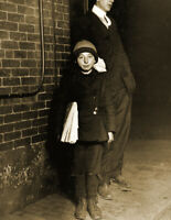 "1912 Ten Year Old Newsboy, Providence, RI Old Photo 8.5"" x 11"" Reprint"