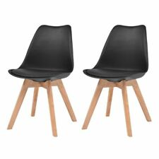 Vidaxl 4x sillas comedor cuero artificial negras asiento Sillón muebles cocina
