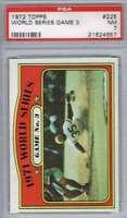 1972 Topps #225 World Series Game 3 Pirates  PSA 7 NM