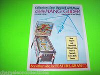 HANG GLIDER By BALLY 1977 ORIGINAL PINBALL MACHINE PROMO SALES FLYER